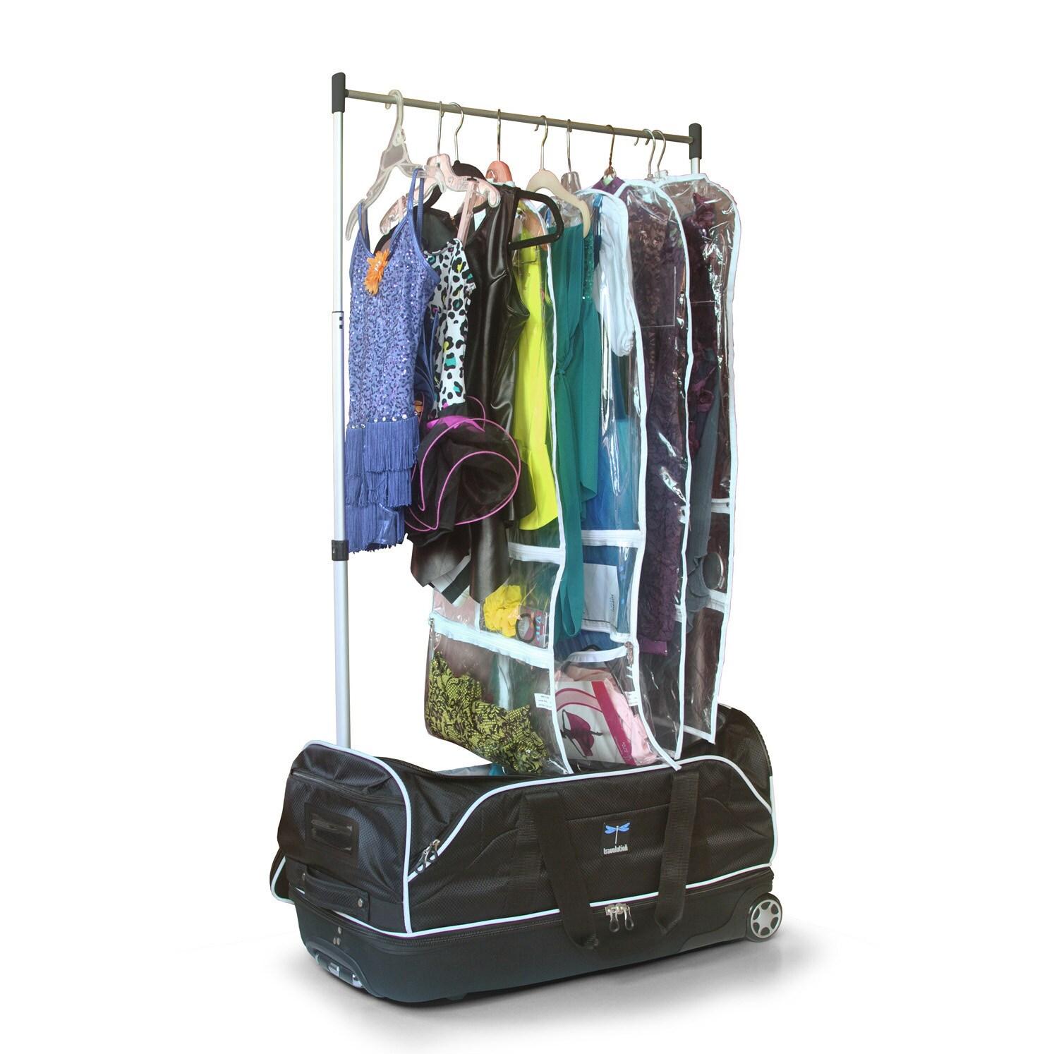 travolution 28 inchwheeled drop bottom duffel with garment rack