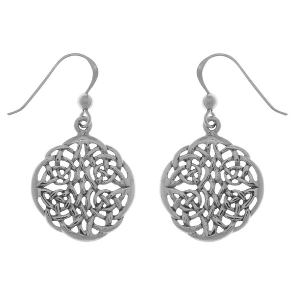 Shop Sterling Silver Celtic Knot Round Filigree Dangle
