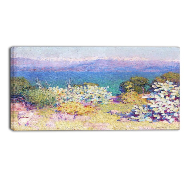 Design Art 'John Russel - In the Morning, Alpes' Canvas Art Print - 36Wx32H Inches - 3 Panels