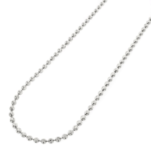 Shop Authentic 14k White Gold 2mm Solid Moon-Cut Ball Bead