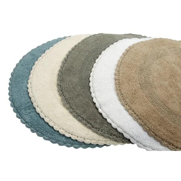 Shop 36 Inches Round Cotton Bath Rug Reversible Hand