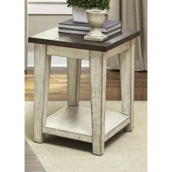 Ashley Furniture 14 Piece Living Room Sale Chairs Designs For Lancaster Weathered Bark And White Chair Side Table - Free ...