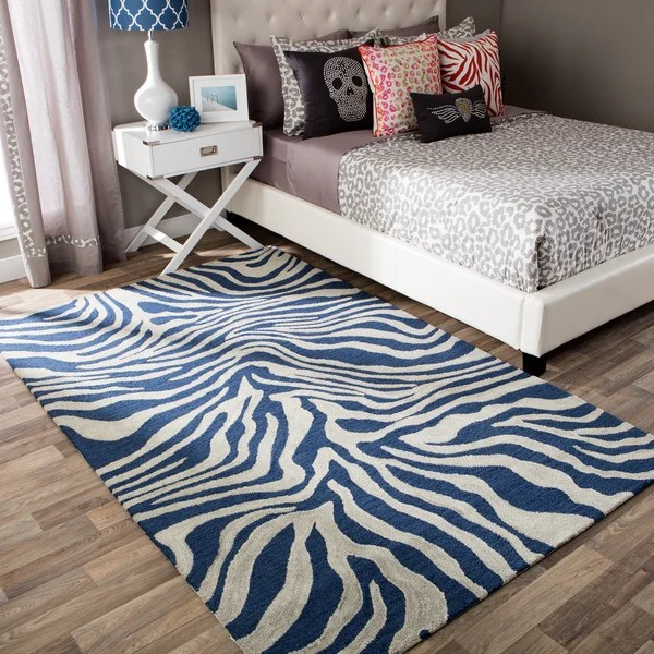 Shop Andrew Charles Snow Leopard Collection Zebra Navy