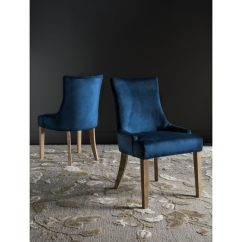 Navy Blue Dining Chairs Set Of 2 Bridal Chair Covers For Sale Shop Safavieh En Vogue Lester