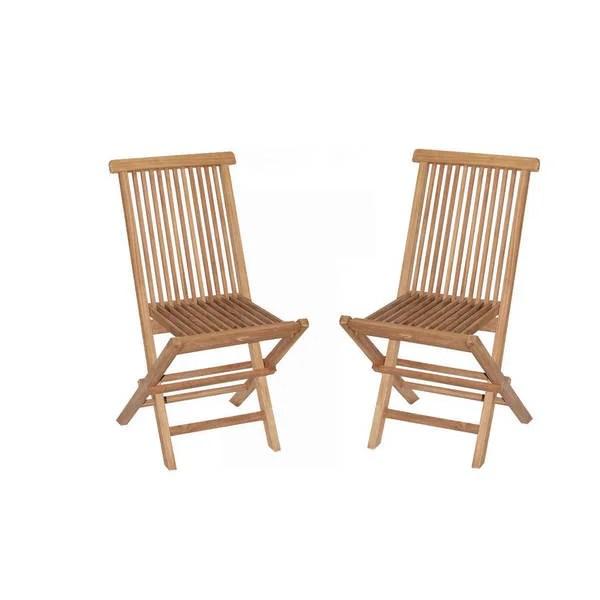 teak folding chairs canada bistro dining room shop handmade vineyard set of 2 indonesia