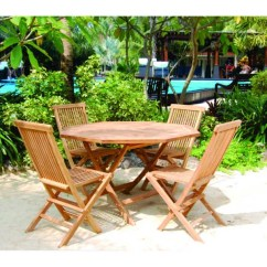 Teak Folding Chairs Canada Omni Massage Chair Shop Handmade Vineyard Octagon Table And Set Indonesia