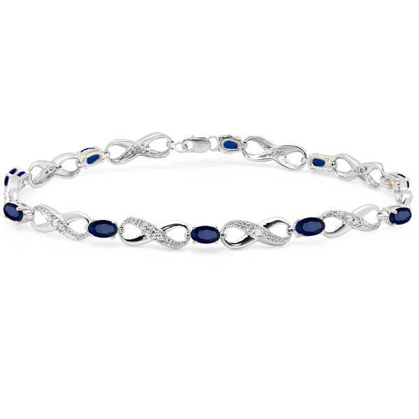Shop Elora Sterling Silver 2 1/4ct TGW Blue Sapphire and