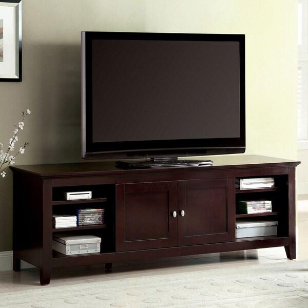 Shop Furniture of America Harmos Transitional 72inch Dark