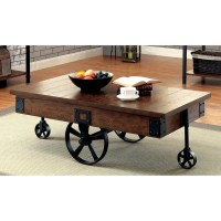 Shop Furniture of America Carpenter Rustic Weathered Oak ...