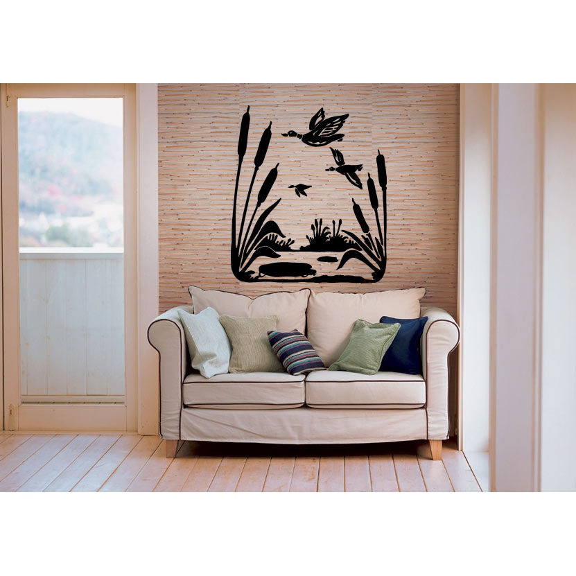 Hunting Ducks Reeds Wall Art Sticker Decal