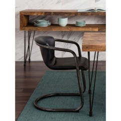 Industrial Dining Chair Ergonomic Needs Shop Aurelle Home Rustic Leather Set Of 2