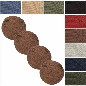 Rhody Rug Woolux Wool Reversible Chair Pads (Set of 4)