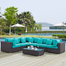 Gather 7-piece Outdoor Patio Sectional Set With