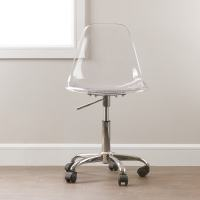 South Shore Clear Acrylic Office Chair with Wheels ...