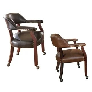 leather kitchen chairs whicker dining buy room online at overstock com gracewood hollow broker captains chair