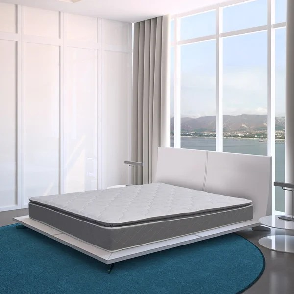 Blissful Journey Rv Pillowtop Short Queen Size Innerspring Mattress Bed In A Box Free Shipping Today 18463168