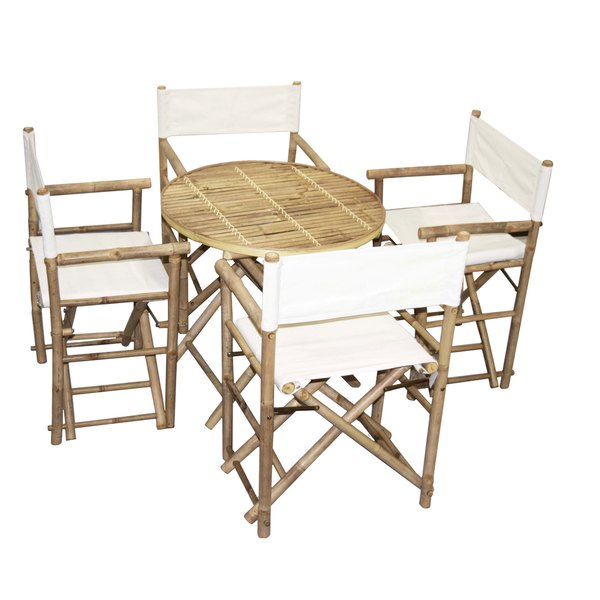 bamboo directors chairs outdoor hanging egg chair with stand shop handmade bistro round table and 4 director s set x27 vietnam