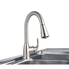 Stainless Steel Kitchen Faucet With Pull Down Spray Design India Pictures Shop Century Home Living Single Handle Sprayer