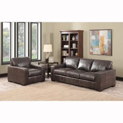 Leather Sofa Cleaning Products Reviews Gray Sectional Ideas Shop Maxweld Premium Distressed Brown Top Grain ...