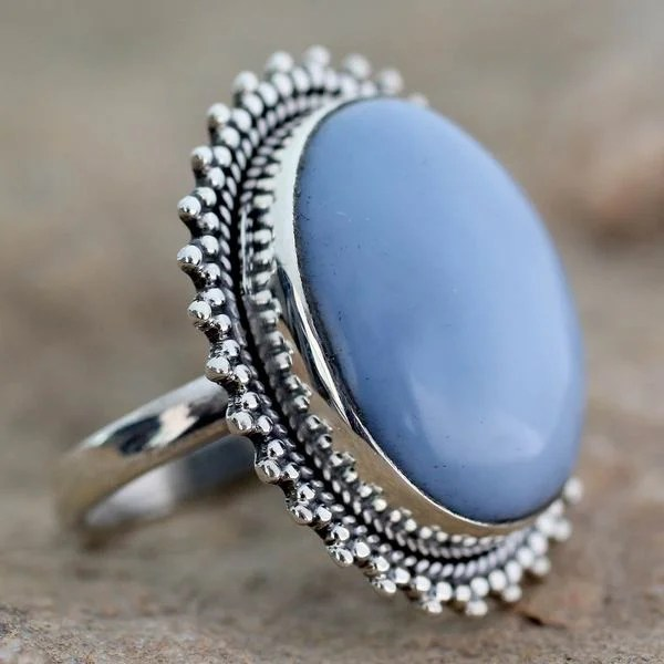 Shop Handmade Sterling Silver Blue Opal Ring India On