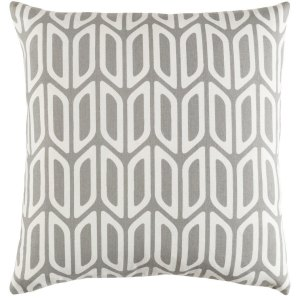 Decorative 18-inch Chowk Feather Down or Polyester Filled Throw Pillow