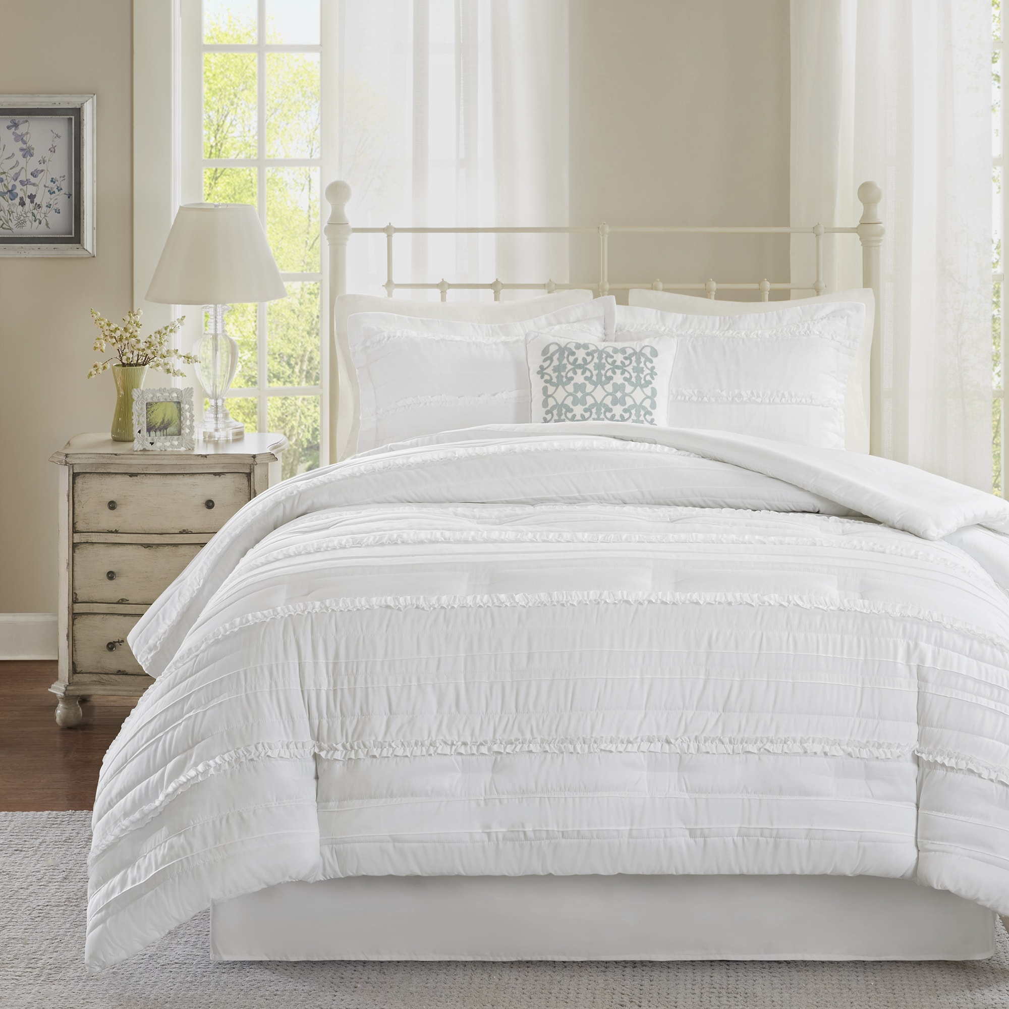 Shop Madison Park Isabella White Comforter Set