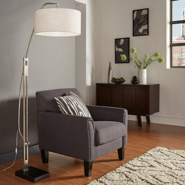 Shop Polished Chrome Arched Adjustable Floor Lamp iNSPIRE