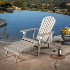 Patio Chairs With Footrests Chromcraft Furniture Kitchen Chair Wheels Hayle Outdoor Reclining Wood Adirondack