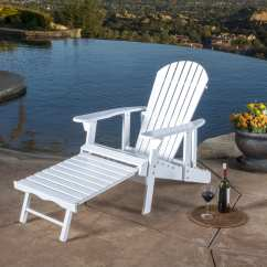 Patio Chairs With Footrests Modern Outdoor Dining Hayle Reclining Wood Adirondack Chair