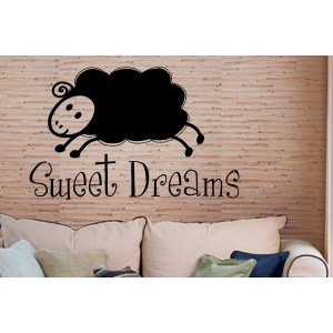 Lamb and Quote Sweet Dreams Wall Art Sticker Decal