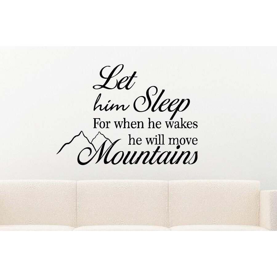 He Will Move Mountains quote Wall Art Sticker Decal