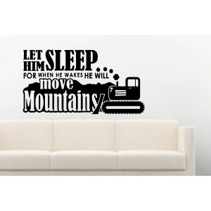 Inscription He Will Move Mountains Wall Art Sticker Decal