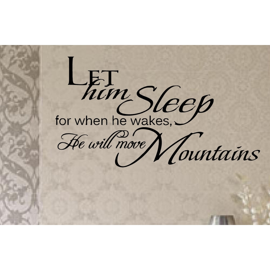 He Will Move Mountains Wall Art Sticker Decal