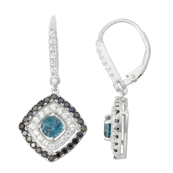 Shop Gioelli Diamond Accent Sterling Silver London Blue
