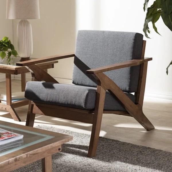 modern lounge chairs for living room jazzy elite power chair shop baxton studio cymone mid century walnut wood grey fabric