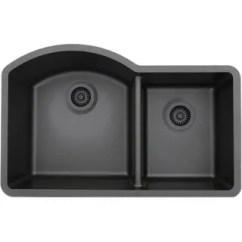 Black Sink Kitchen Oak Cart Buy Drop In Sinks Online At Overstock Com Our Best Deals Lexicon Platinum Offset Double Bowl Quartz Composite