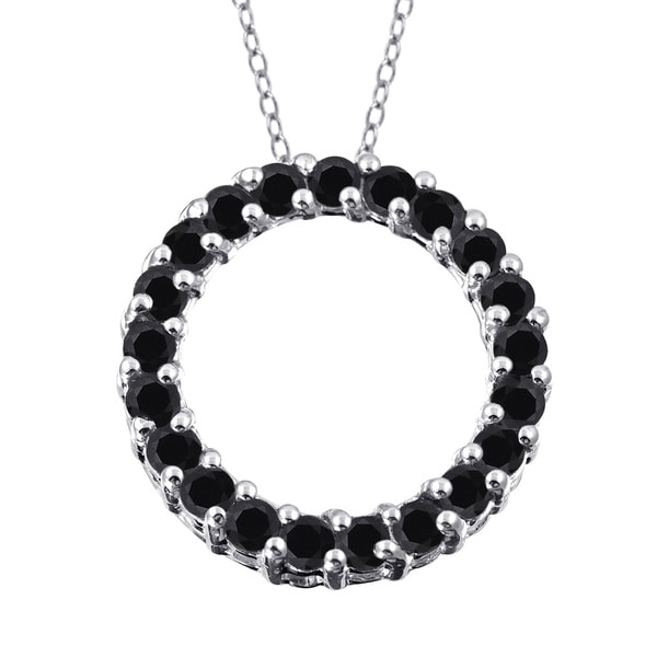 Shop Jewelonfire Sterling Silver 1ct TDW Black Diamond