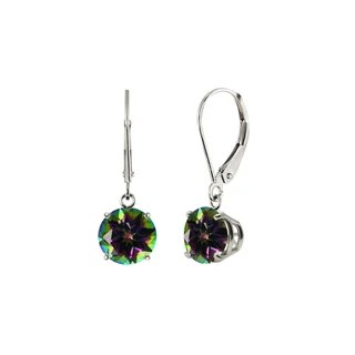 Shop AALILLY Sterling Silver Pear Mystic Topaz and White