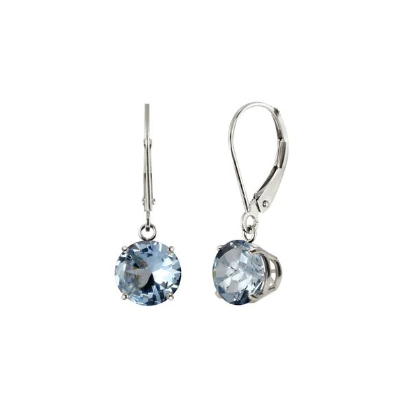 Shop Sterling Silver 8mm Round Created Aquamarine