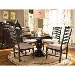 Paula Deen Home Living Room Furniture Wall Tiles For Shop Round Pedestal Table Complete In Tobacco Finish