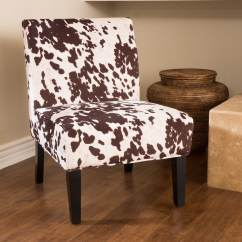 Cowhide Print Accent Chair Patio Covers Christmas Tree Shop Silver Lake Sunset Fabric Dining