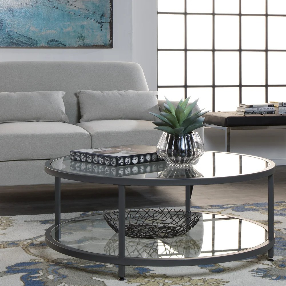 buy round glass coffee tables online