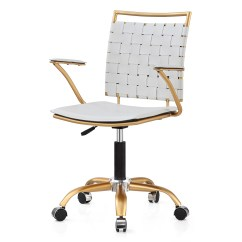 Office Chair Overstock Red Banquet Covers Shop Silver Orchid Lee Adjustable Height In Gold And White