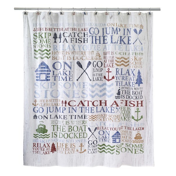 Shop Lake Words Shower Curtain Free Shipping On Orders Over 45 11642468