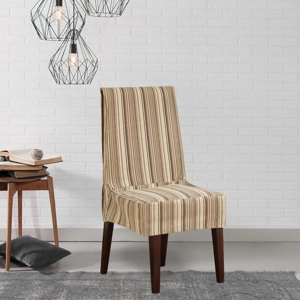 striped chair covers dining rooms hawthorne office shop sure fit harbor stripe room cover free shipping