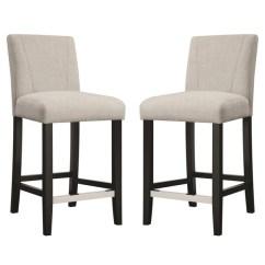 Upholstered Counter Height Chair Folding Adirondack Design Shop Ramiro Fabric Stools Set Of 2