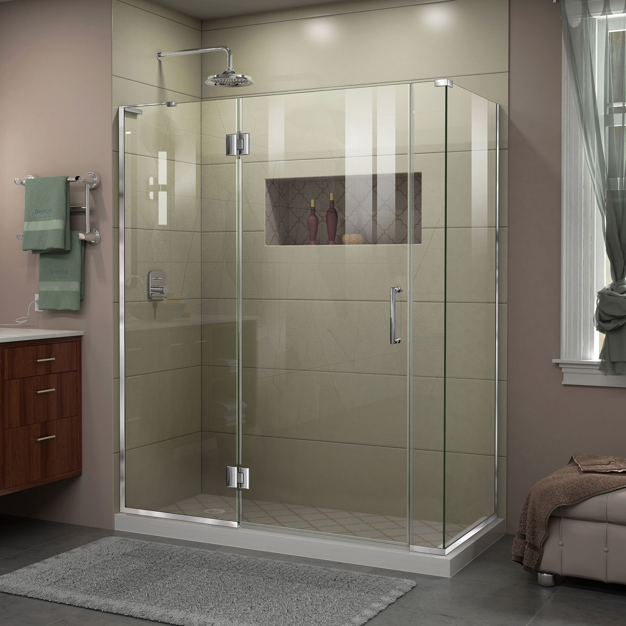 Curved Hinged Shower Door