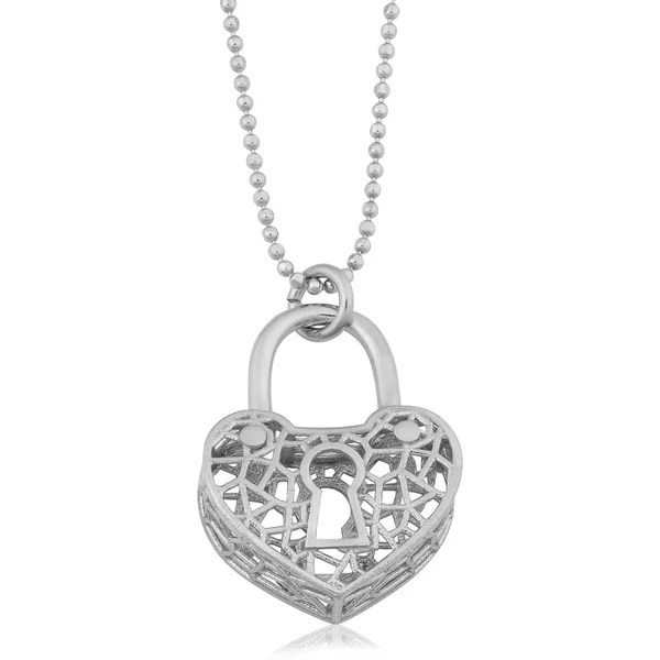 Shop Argento Italia Rhodium Plated Sterling Silver Keyhole