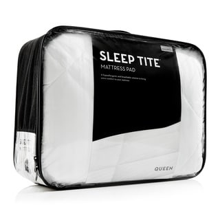 Sleep E Deep Pocket Fit Quilted Mattress Pad With Damask Cover And Down Alternative Fill
