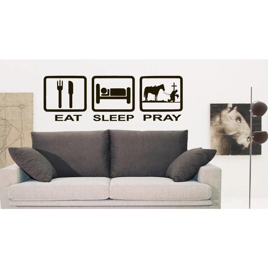 Eat Sleep Pray Wall Art Sticker Decal